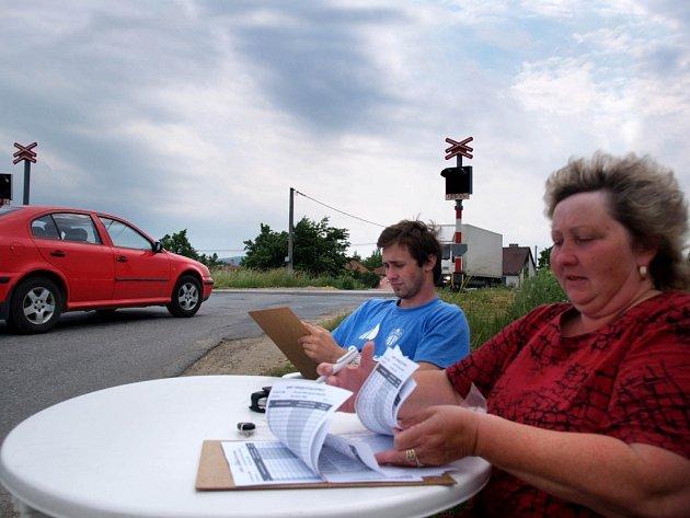 Sčítání dopravy v Okříškách
