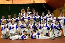 Basebollový tým mladších žáků Třebíč Nuclears posbíral kompletní sadu medailí. Ke stříbru z MČR přidali ještě oblastní bronz v kategorii desetiletých a nejnověji zlato v kategorii do osmi let.