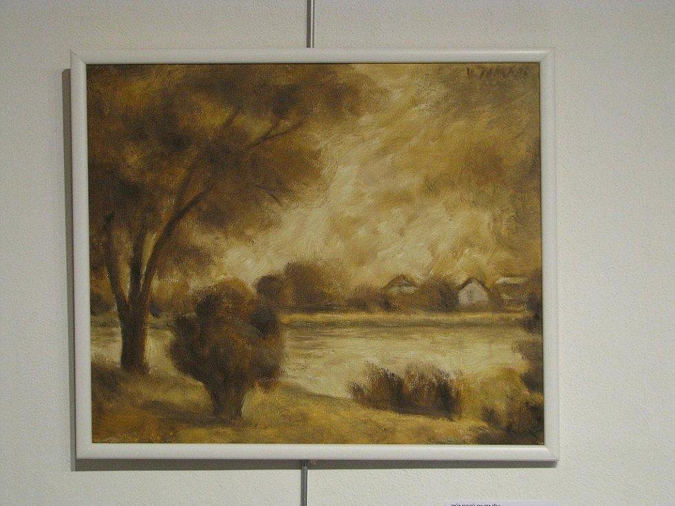 Výstava k osmdesátinám akademického malíře Vlastimila Tomana je ode čtvrtka přístupná v třebíčské galerii Malovaný dům.
