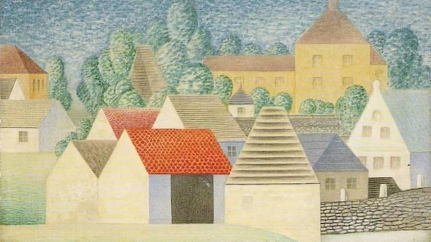 Jan Zrzavý: Okrouhlice, 1960, Galerie výtvarného umění v Chebu