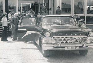 Svoboda. V té době už bývalý prezident Ludvík Svoboda – ve funkci skončil o rok dříve kvůli chatrnému zdraví - zavítal 18. června 1976 do Rudíkova, zastavil se rovněž u školy, jejíž stavbu pomáhal prosadit.