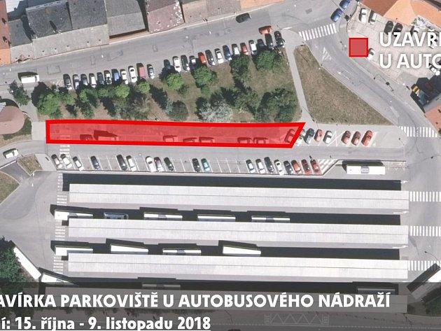 U autobusového nádraží vzniknou další parkovací místa