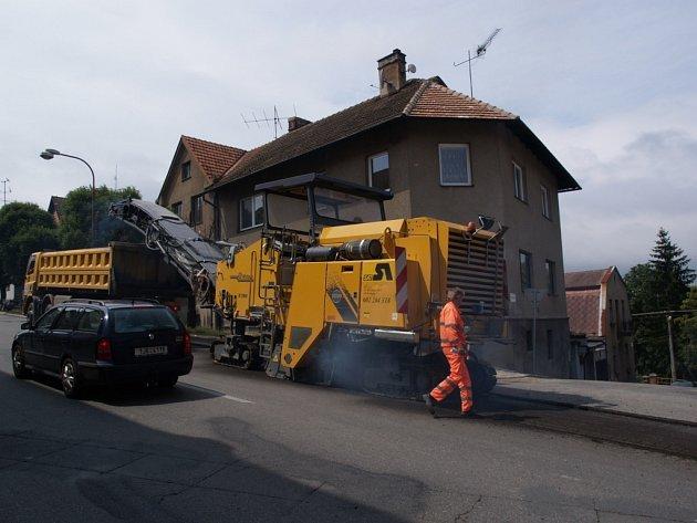 Začala rekonstrukce průtahu Třebíčí.