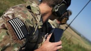 Osmý ročník vojenského cvičení Ample Strike, které se konalo na vrtulníkové základně u Náměště nad Oslavou.