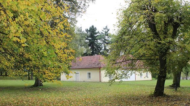 Zámecký park v Budišově.