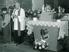 V bazilice sv. Prokopa byly k vidění ostatky svatého Vojtěcha.