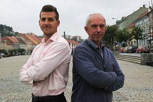 Vícebojař Jiří Sýkora a jeho trenér Pavel Svoboda.