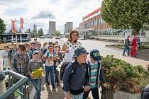 Návštěvníci v Jaderné elektrárně Dukovany.