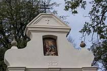Opravená kaplička Panny Marie na Dělnickém náměstí v Třebíči.