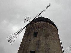 Současná podoba větrného mlýnu na Kanciborku.
