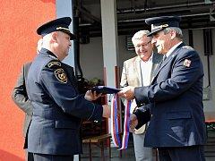 Slavnostní otevírání nové hasičské stanice v ulici Jemnická.
