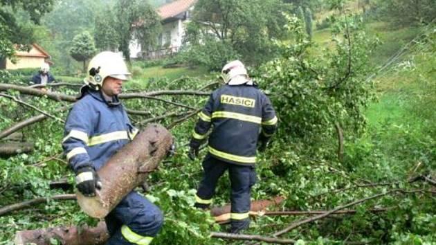 Celkem pětkrát vyjeli třebíčští hasiči ve čtvrtek do míst, kde zanechala následky odpolední bouře.