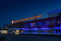 """Kampaň """"Česko svítí modře"""" v dukovanské elektrárně."""