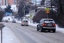 První pořádné sněžení na Třebíčsku.