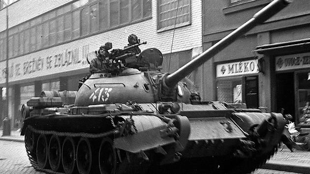 Srpnové události roku 1968 v Třebíči.