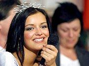 Miss Jitka Válková po návratu ze soutěže v rodné Náramči.
