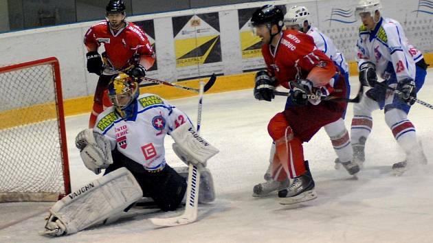 Pět zápasů čekala Třebíč na vítězství, dvanáct utkání na plný bodový zisk. Dlouhé čekání hokejisté Horácké Slavie ukončili ve středu, když vyhráli v Olomouci 5:4.