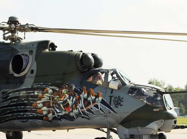 Jeden z vrtulníků náměšťské tygří letky.