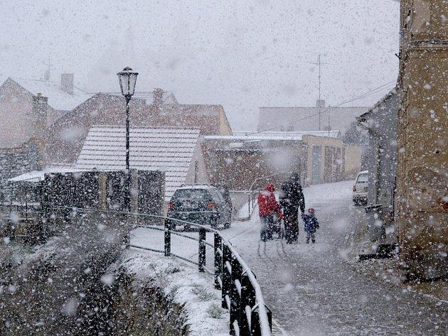 Počasí v Třebíči v březnu 2008.