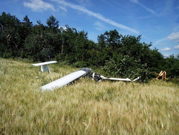 V Třebíči v úterý havarovalo dvoumístné sportovní letadlo.