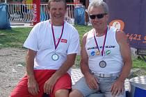 Dvě stříbra dovezli do Třebíče z evropského šampionátu Petr Mejzlík (vlevo) a Zdeněk Mikoláš.