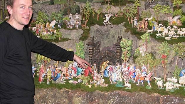 ZELENKŮV BETLÉM. Jednou z dominant vánoční výstavy na třebíčském zámku je čtyřmetrový třebíčský betlém Zelenkův.