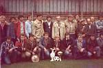Vítězové z JZD. Tito účastníci byli při tom, když se v roce 1979 hrálo o Zlatý pohár Zemědělských novin. A za JZD Mezilesí zvítězili.