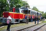 vlak v neděli poprvé vyjel z Moravských Budějovic do Jemnice.
