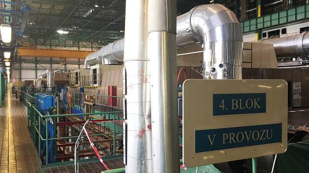 Čtvrtý blok jaderné elektrárny je opět v provozu.