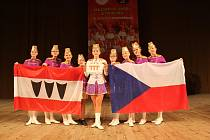 Třebíčské mažoretky Cheerladies v ruském Petrohradu.