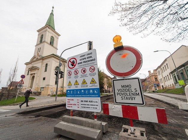 Rekonstrukce Bráfovy třídy v Třebíči.