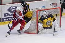 Hokejisté Havlíčkova Brodu vyhráli letos i třetí vzájemný zápas s Moravskými Budějovicemi.