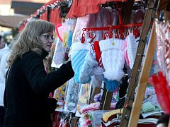 Vánoční trhy na Karlově námestí v Třebíči.