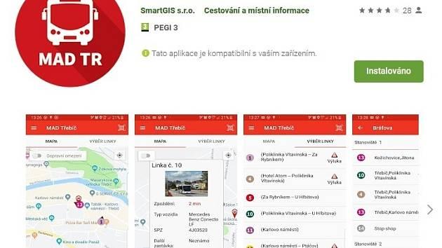 Třebíčská aplikace ukazuje polohu autobusů. Je nejlepší v kraji