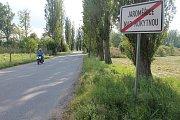 Směr z Jaroměřic na Popovice.
