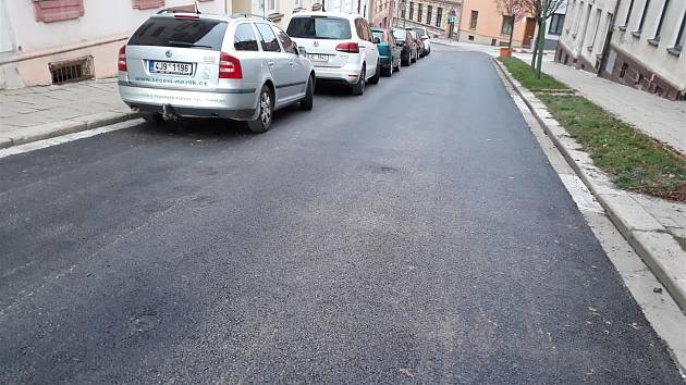 Opravená Jungmannova ulice v Třebíči.