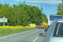 Ranní nehoda u Hrotovic na Třebíčsku.