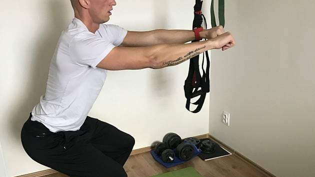 Petr Svoboda při domácím tréninku. Foto: Petr Svoboda