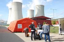 Cvičení pohotovostního týmu v dukovanské jaderné elektrárně.