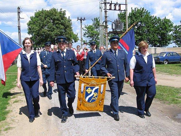 Sbor dobrovolných hasičů v Koněšíně.