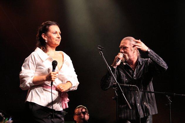 """Koncertem nazvaným """"Když hvězdy netančí"""" pokračoval v zámeckém parku v Jaroměřicích nad Rokytnou hudební festival Petra Dvorského."""