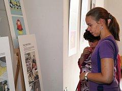 V prostorách tréninkové kavárny Splněný sen se konají výstavy.