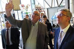 Vicepremiér a ministr průmyslu a obchodu Karel Havlíček na setkání se zástupci regionu v Třebíči.