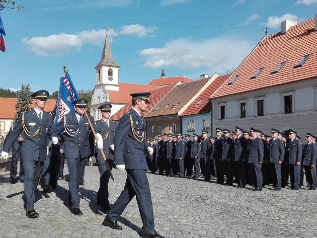 Vojáci z náměšťské základny si v pátek připomněli vznik svého prvního útvaru.