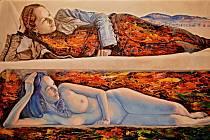 Igor Piačka: Ty a Karpaty, olej, akryl na plátně, 2013.