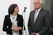 Návštěva prezidenta Václava Klause a první dámy Livie Klausové na Třebíčsku.