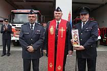 Soška sv. Floriana, patrona hasičů, pro novou zbrojnici ve Starči.