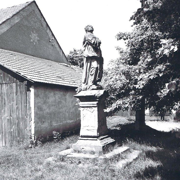 Zaniklá obec Lipňany u Dukovan na Třebíčsku v dobových fotografiích. Foto: poskytl Miloš Kudera