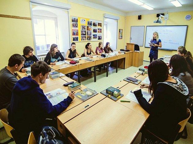 Katolické gymnázium v Třebíči.