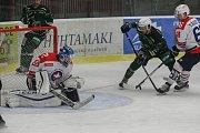 Zápas 42. kola WSM ligy mezi SK Horácká Slavia Třebíč a HC Energie Karlovy Vary.